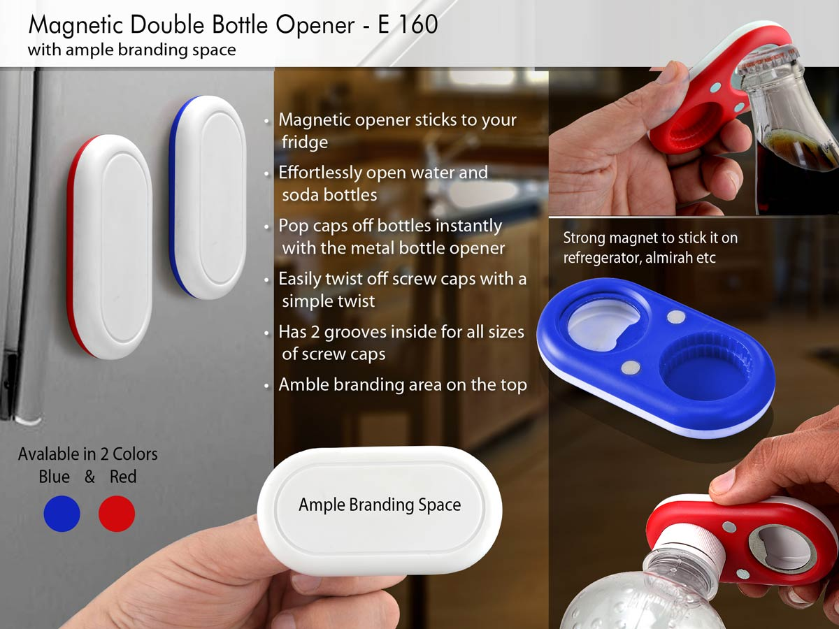 E160 - Magnetic double bottle opener