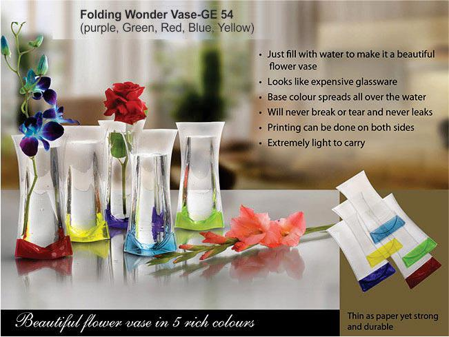GE54 - Folding Wonder Vase (Unbreakable, Leakproof, Easy to carry)