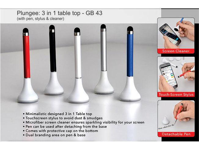 GB43 - Plungee: 3 in 1 table top (Pen with stylus and cleaner)