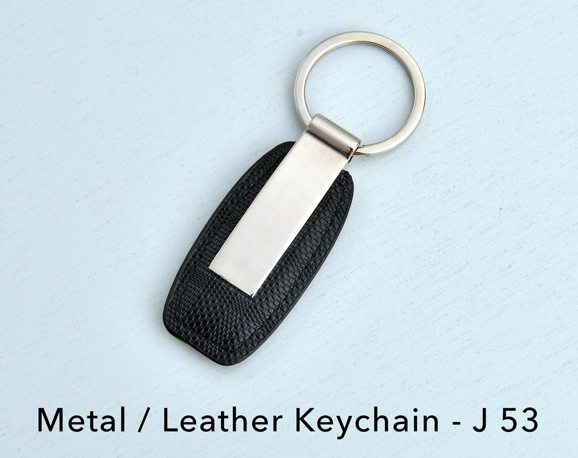 J53 - Metal/Leather keychain