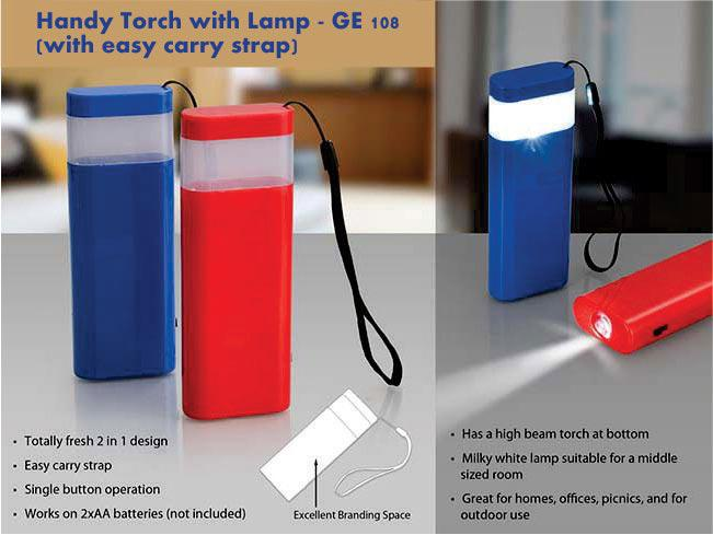 GE108 - Handy torch with lamp