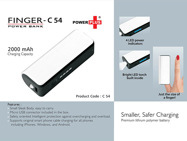 Finger power bank (2000 mAh) - C54