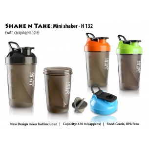 H132 - SHAKE N TAKE: MINI SHAKER WITH HANDLE