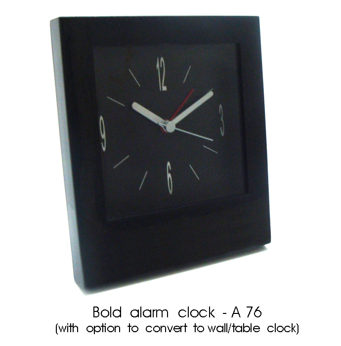 A76 - Bold alarm clock (with option to convert to wall / table clock)