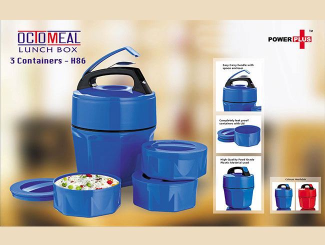 Octomeal Lunch box | 3 containers (plastic) - H86