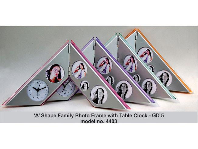 GD05 - A-Type Family Photo Frame with Table Clock