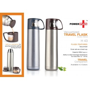 H43 - Power Plus Vacuumized travel flask (500 ml)
