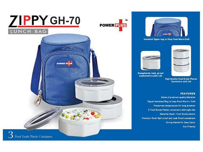 GH70 - Zippy Lunch bag- 3 containers (plastic)