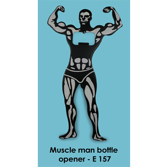 E157 - Muscle man Bottle opener