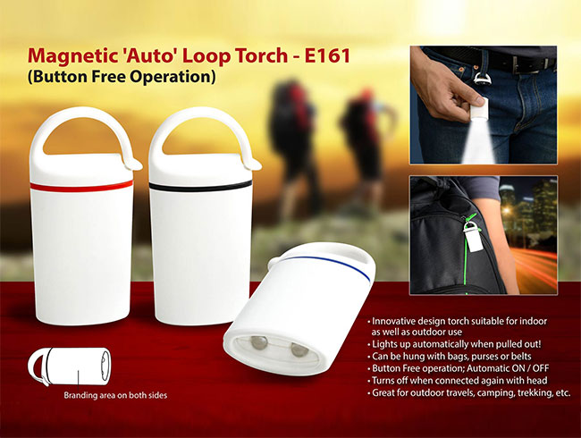 Auto loop torch: Magnetic, button free operation - E161
