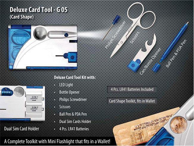 G05 - Deluxe Card Tool Kit- Card Shape