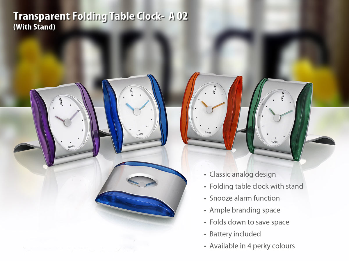 A02 - Transparent Folding Table Clock
