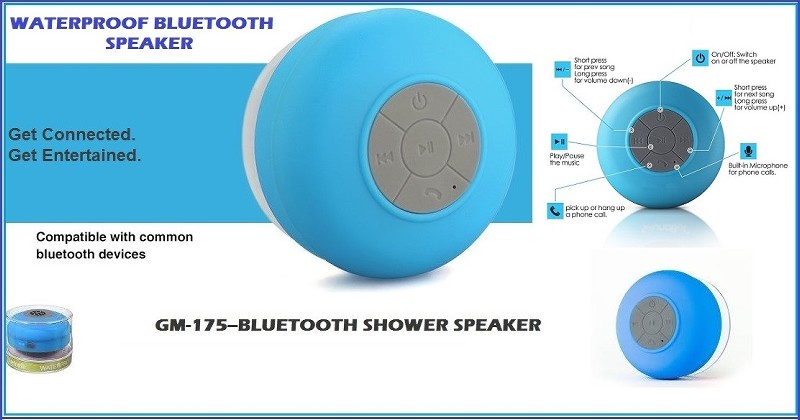 GM- 175 Bluetooth Shower Speaker