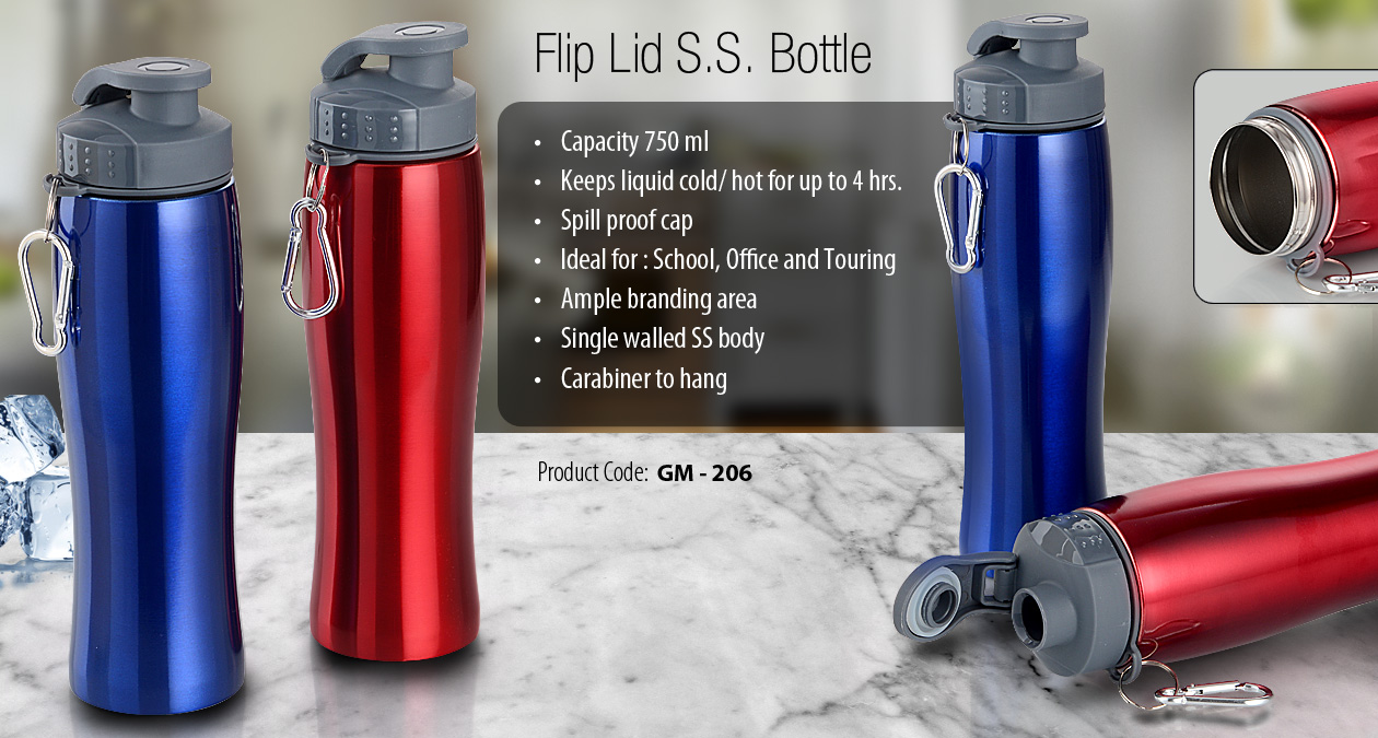 Flip Lid S.S. Bottle