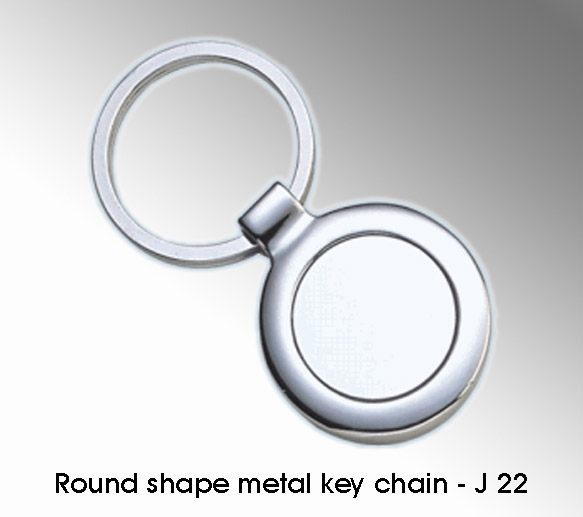 Round shape metal key chain - J22