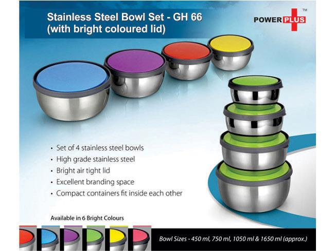 GH66 - Stainless steel bowl set (Set of 4)