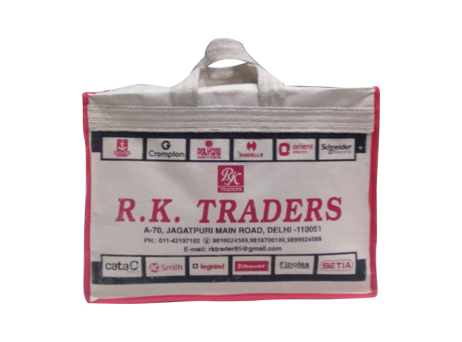 R K traders carry bag