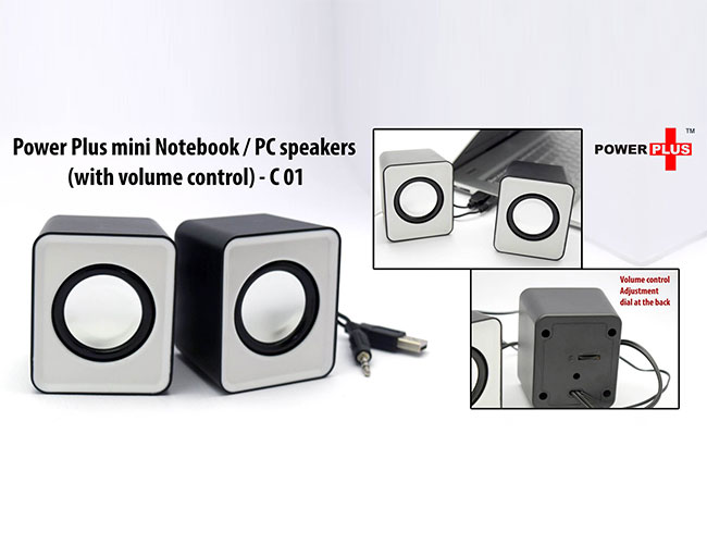 Power Plus mini Notebook / PC speakers (with volume control) - C01