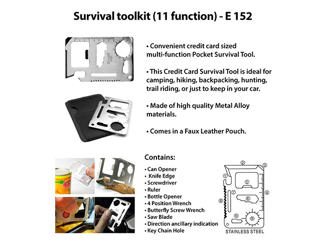 Survival toolkit (11 function) - E152