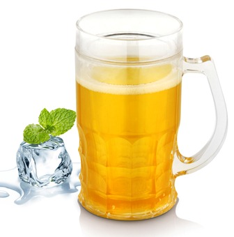 YELLOW LIQUID BEER MUG