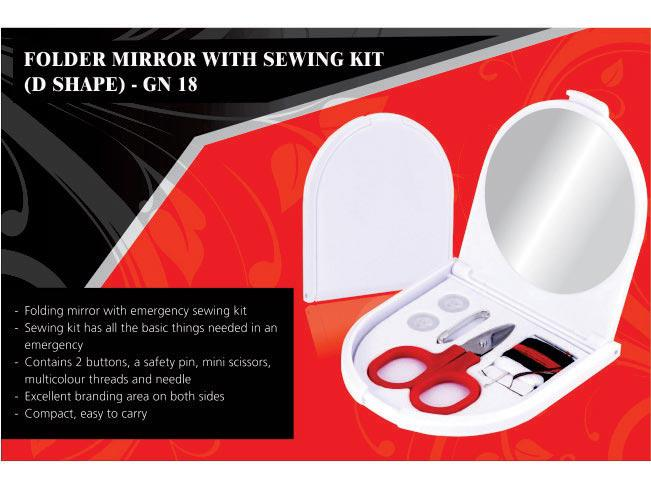 GN18 - Folding Mirror With Sewing Kit