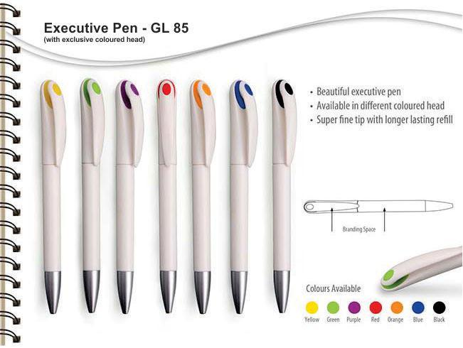GL85 - Executive Pen (White pen with front dot)
