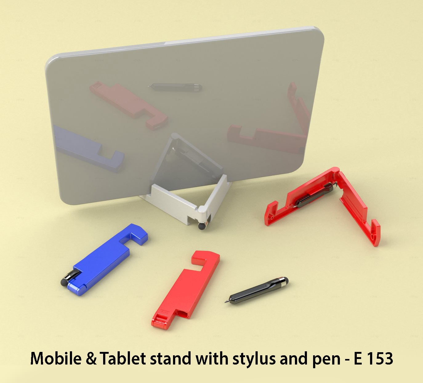 E153 - Mobile & Tablet stand with stylus and pen