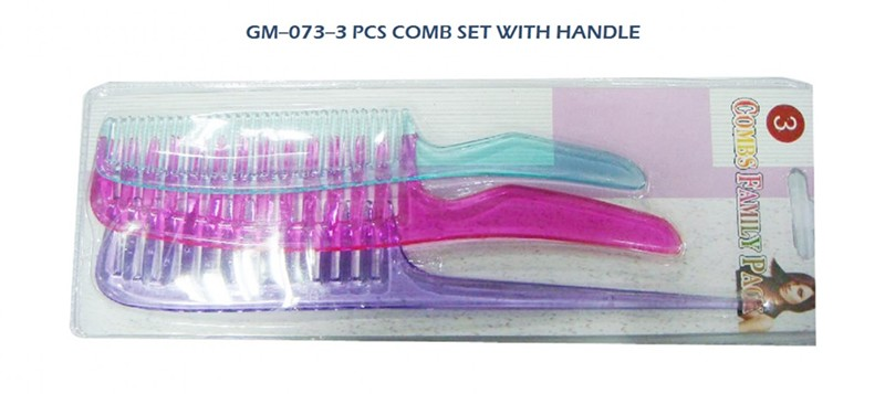 073 3 Pcs Combs Set With Handle