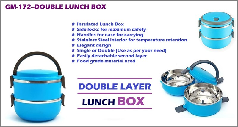 GM- 172 Double Casserole Lunch Box