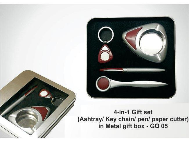 GQ05 - 4 in 1 Gift Set (Key chain/paper cutter/pen/ashtray)