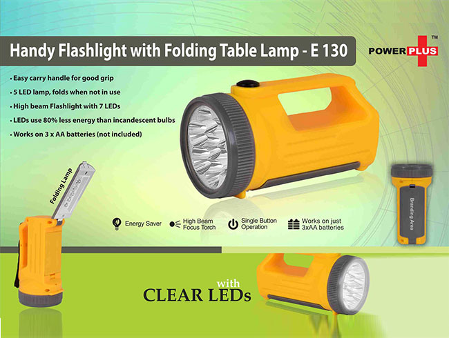 Handy Flashlight with Folding table lamp - E130