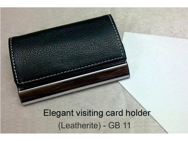GB11 Elegant visiting card holder (Leatherite)