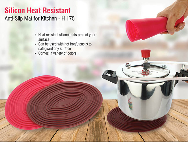 Silicon heat resistant, anti-slip mat for kitchen - H175