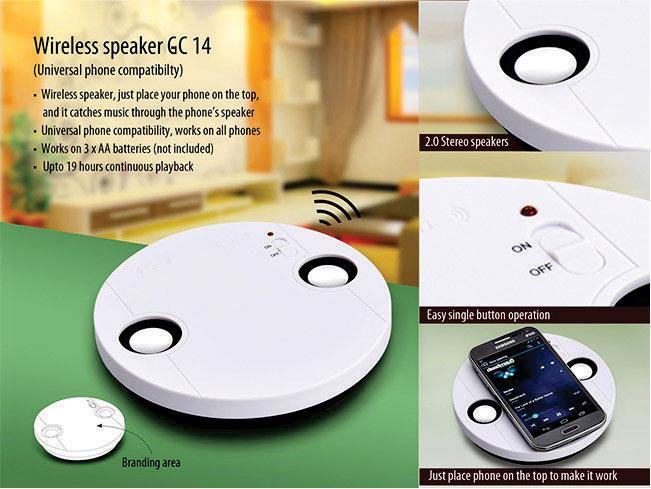 GC14 Wireless speaker (no connection required)