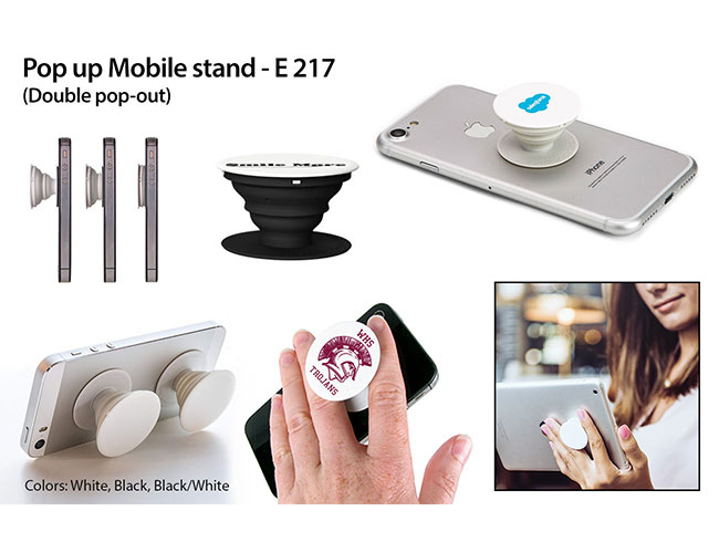 Pop up Mobile stand (Double pop out) - E217