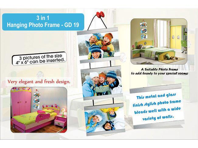 GD19 - 3 in 1 hanging metal photo frame