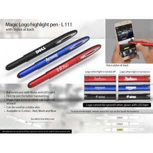 L111 - Magic Logo highlight pen with stylus