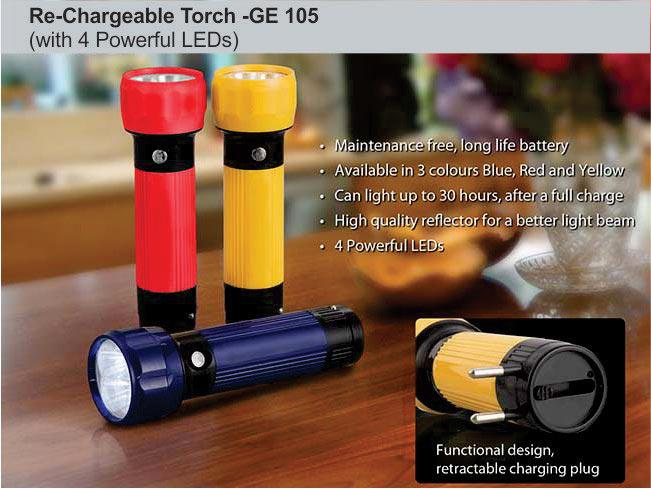 GE105 - Rechargeable Torch