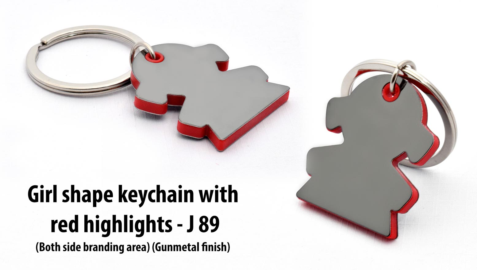J89 - Girl shape keychain with highlights
