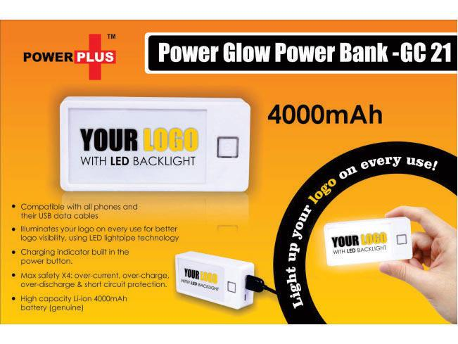 GC21 - Power Glow power bank (4000 mAh)