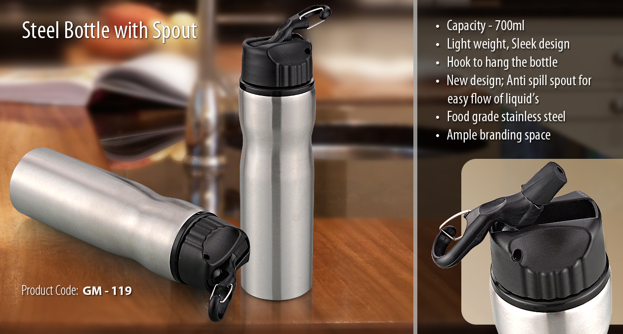 STEEL BOTTLE WITH SPOUT