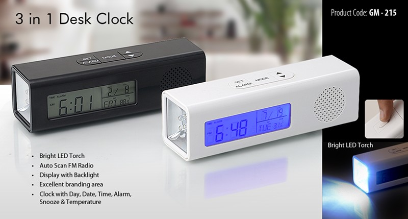 GM-215 3 in Desk Clock