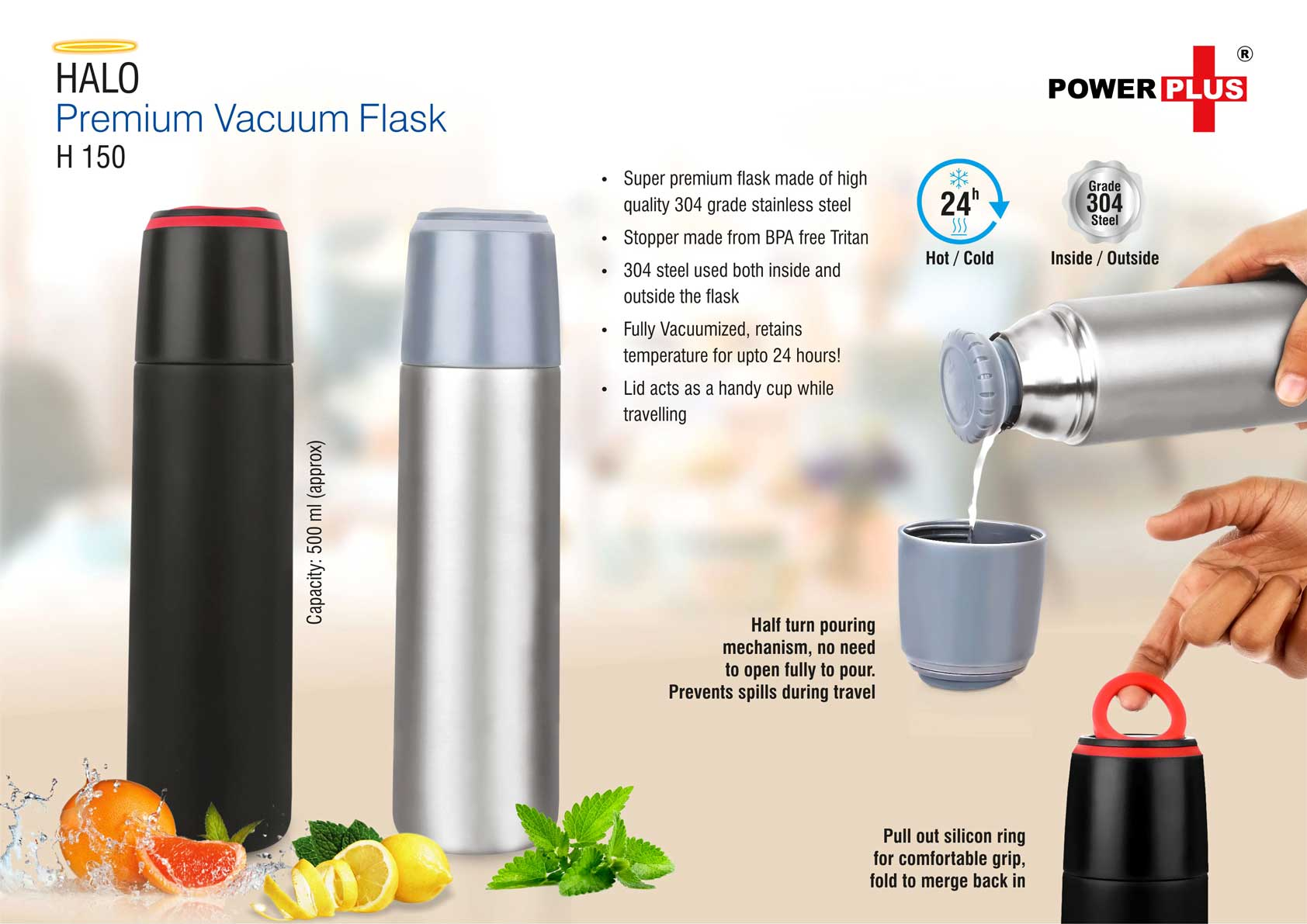 H150 - Halo Premium Vacuum Flask (500 ml)