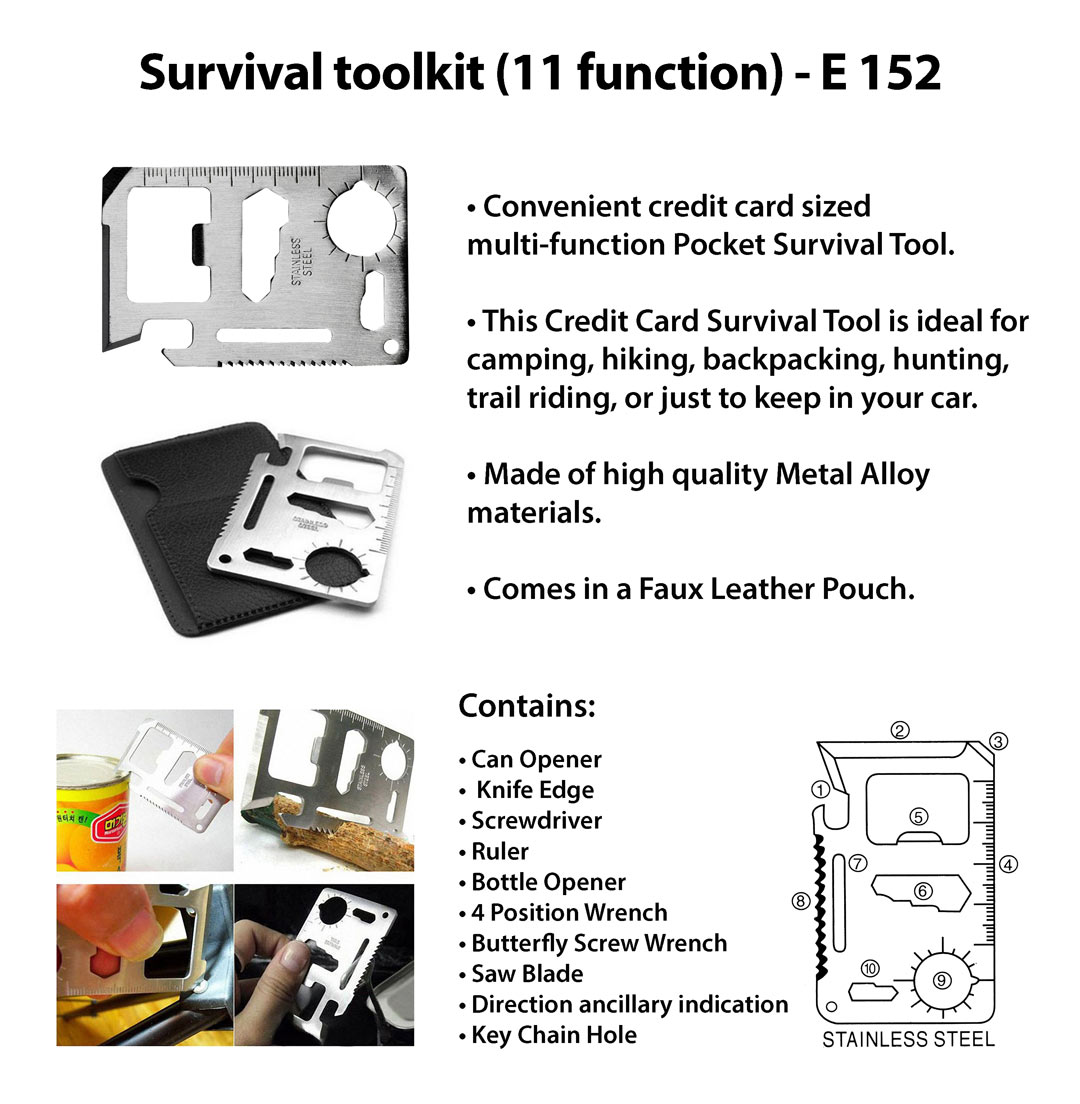 E152 - Survival toolkit (11 function)