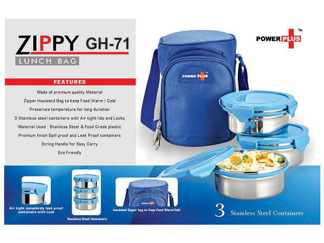 GH71 - Zippy Lunch bag- 3 containers (metal)