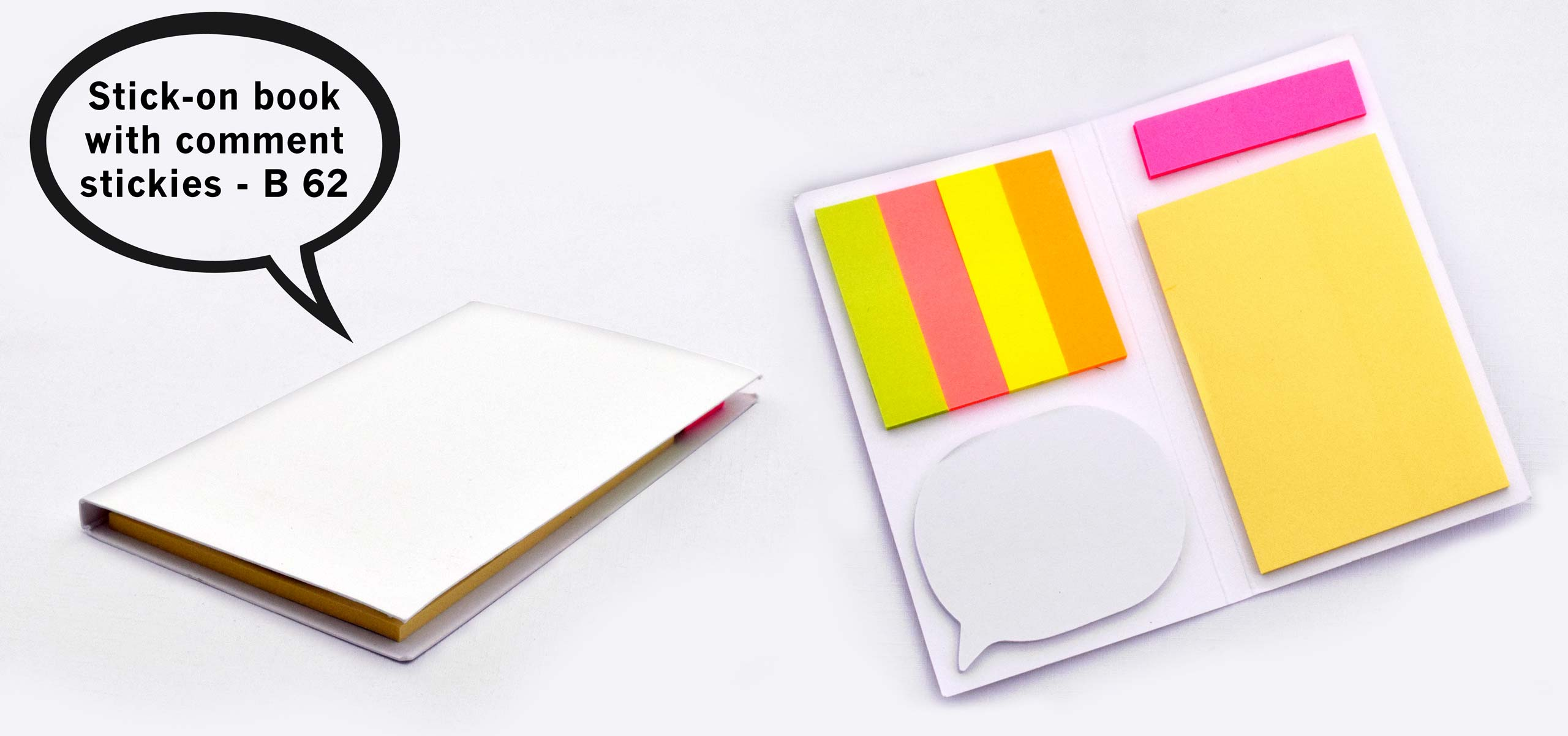 B62 - Stick-on book with comment stickies