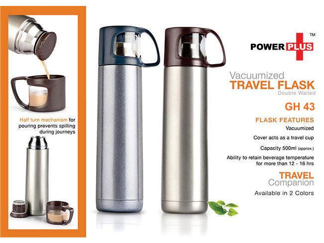 GH43 - Power Plus Vacuumized travel flask (500 ml)
