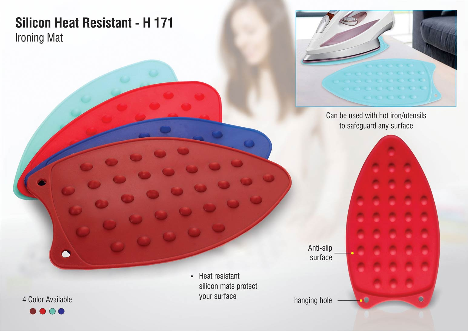 H171 - Silicon heat resistant Ironing mat