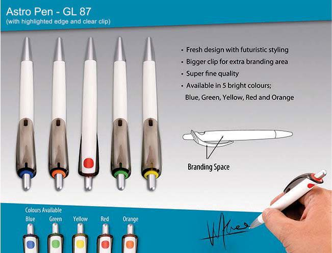 GL87 - Astro pen (with clear clip)