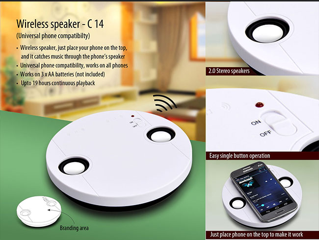 Wireless speaker (No connection required) - C14